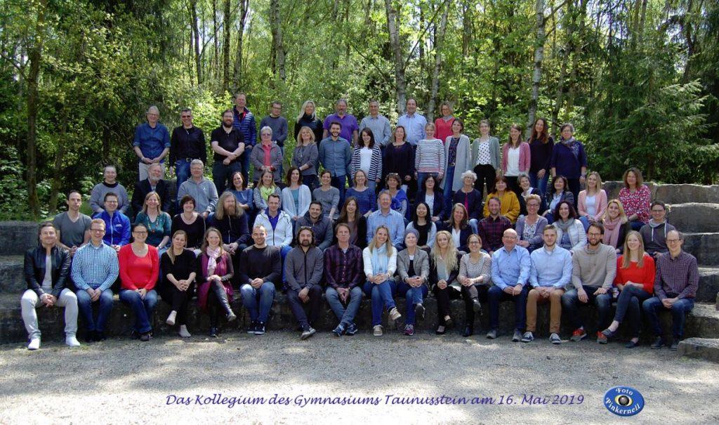 Das Kollgegium des Gymnasiums Taunusstein im Sommer 2019